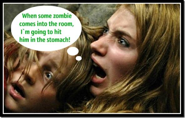 Дети прячутся от зомбаков болванка 2