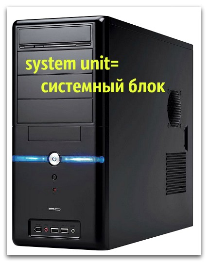System Unit switched on