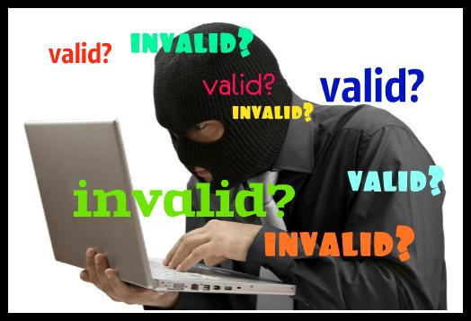 как перевести на русский password invalid