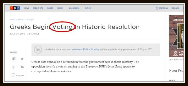 voting как перевести правильно